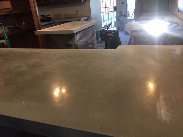 Polished concrete counter 1