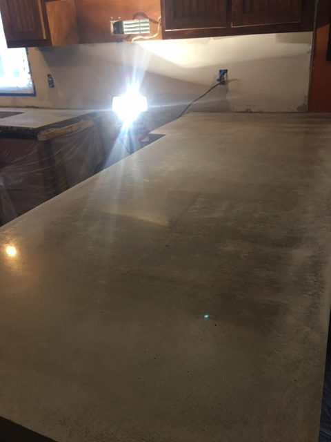 polished concrete counter 2