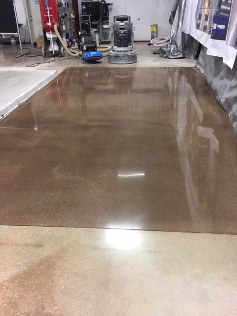 polished concrete industrial floor